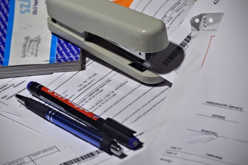 Keep all invoices and paperwork together for future reference.