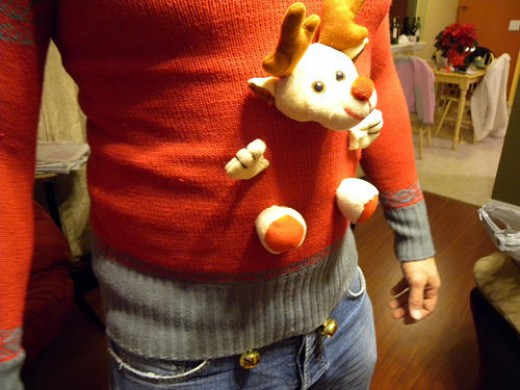 You can turn any sweater into an Ugly Christmas sweater