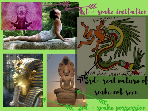 There are several processes that Eastern mystics follow to receive the spirit of the snake.