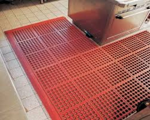 Anti fatigue mats are a great buy for a kitchen