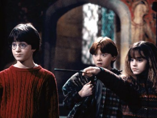Very young Harry, Daniel Radcliffe, in the first film