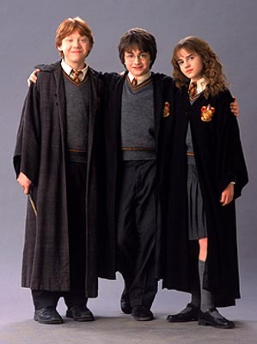 Ron, Harry and Hermione are still quite young in the second film