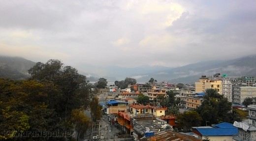Pokhara Lakeside view from Hotel Raniban Arcade