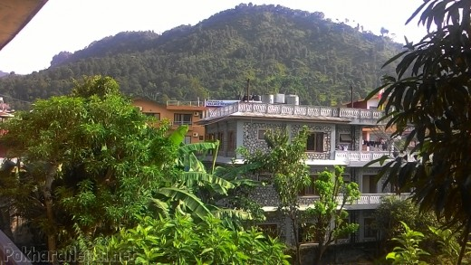 A balcony view of Hotel Plaza Annapurna