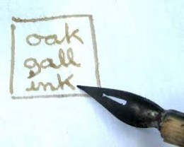 No quill pen today!  Example of a rather weak oak gall ink