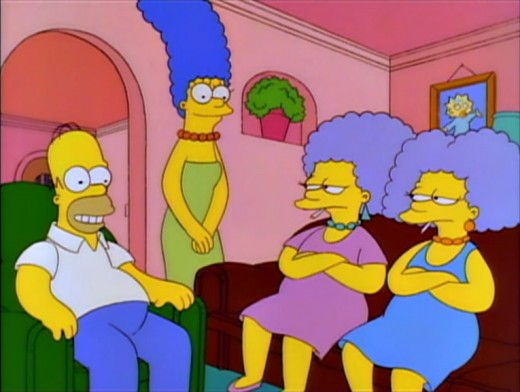 "Scene from ""Homer vs. Patty and Selma,"" the 120th episode of The Simpsons."