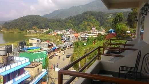 Pokhara view from Hotel Pancharatna