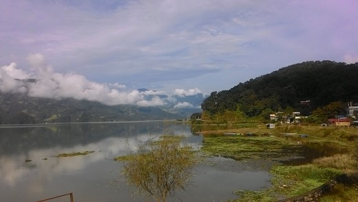 Pokhara Lake at the beginning of October, 2016
