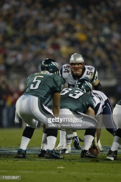 Former Philadelphia Eagles center Hank Fraley (#63) is now a coach with the Minnesota Vikings