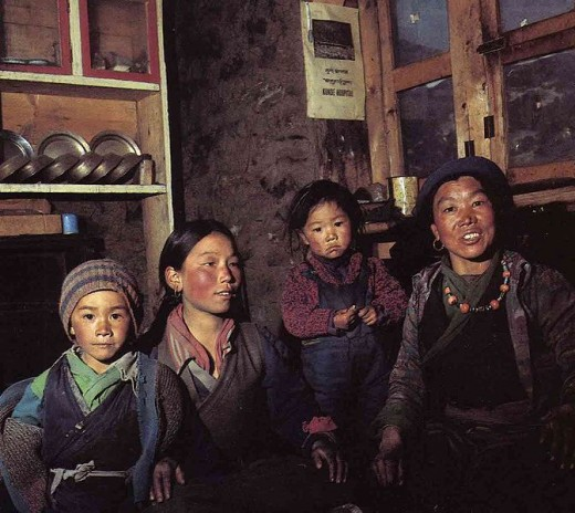 Sherpa people - the Tibetan-related ethnic group.