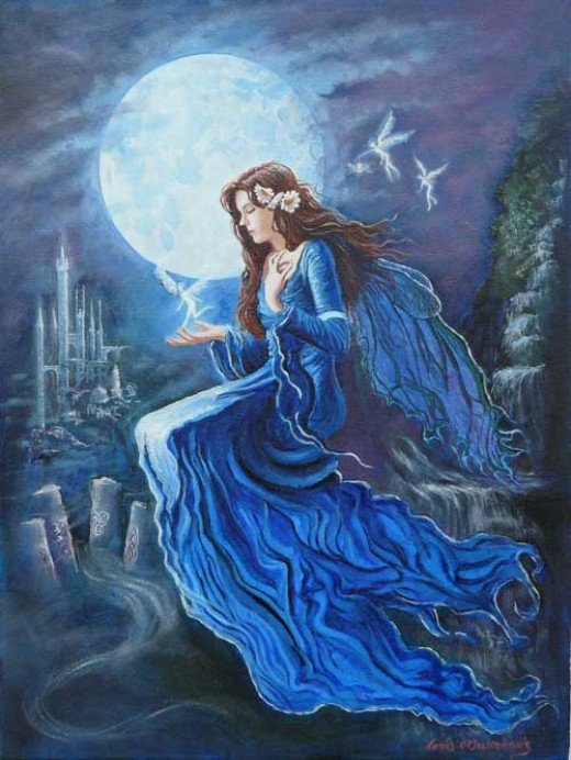 Speak with Aine, Fairy Queen of Munster or some other new deity you've never studied before.