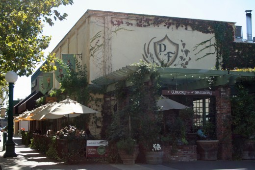 The Dancing Fox Winery and Bakery is known for its sandwiches, sausages, wood-fired pizzas and pies. It's also known for its wine and beer creations and lovely outdoor dining area in the heart of Downtown Lodi.