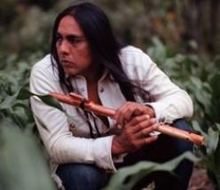 Robert Mirabal, Taos Pueblo native American musician.