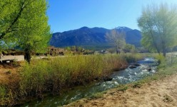 Red Willow River on Taos Pueblo that separates the north house from the south house.
