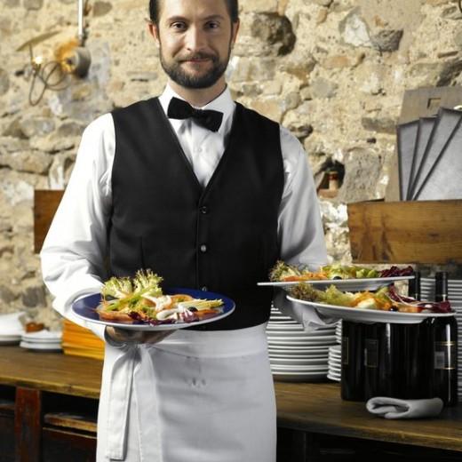 A waiter on duty
