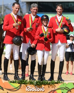 The Rio Olympic Games German bronze medal team.