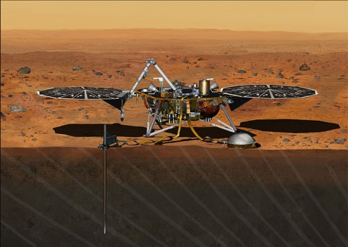 How InSight will look on Mars.