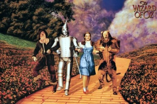 Judy Garland as Dorothy in the movie The Wizard of Oz
