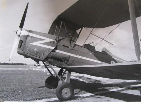 Tiger Moth at Shoreham-by-Sea aerodrome in 1974