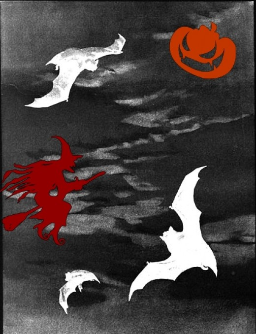 Bats are one of the most popular Halloween images.