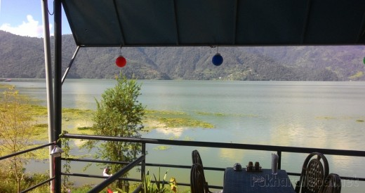 Fewa Lake view from Joy's Restaurant & Bar