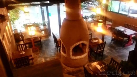 Caffe Concerto fireplace