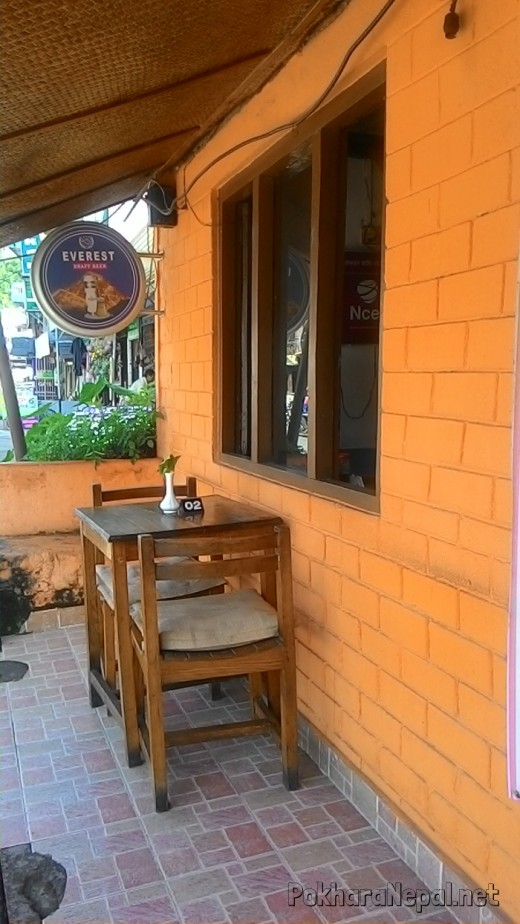 Pokhara Pizza House outside seating