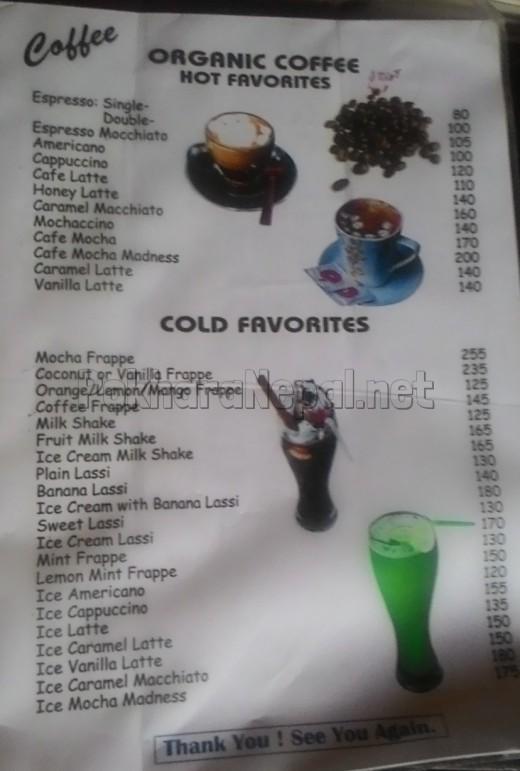 Pokhara Pizza House menu