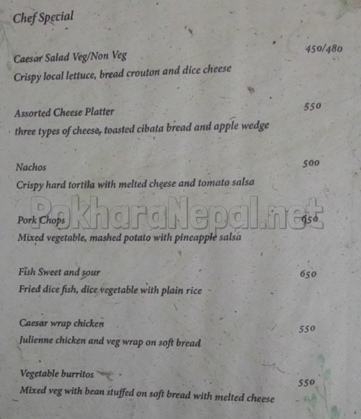 The Harbor Restaurant menu