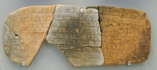 Linear B is a syllabic script that was used for writing Mycenaean Greek, the earliest attested form of Greek. The script predates the Greek alphabet by several centuries. The oldest Mycenaean writing dates to about 1450 BC.