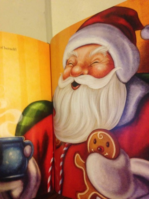 "Vibrantly colored illustration of Santa as the jolly old elf in personalized copy of ""The Night Before Christmas"" from I See Me"