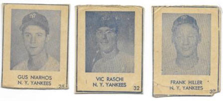 These are 1948 Blue Tint cards - there aren't many sets through the 1940's due to the war but once it was over, several sets make their debut in the later 1940's
