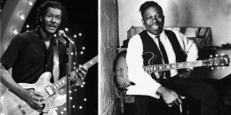 Chuck Berry (left) and B.B. King with Gibson ES 335s