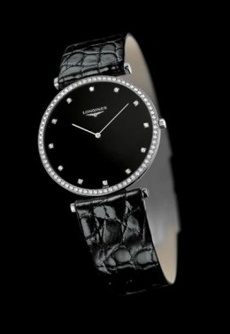 Longines La Grande Classique Black Strap Diamonds