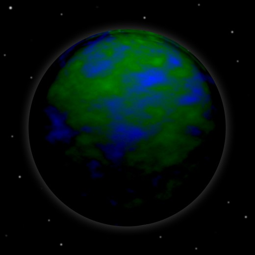 picture of the earth that I made for my blog