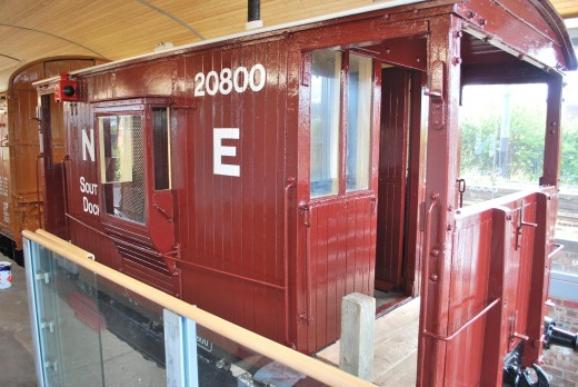 Monkwearmouth Museum, late NER brake van with cut-out on the side of the guard's ducket for visitors to look inside