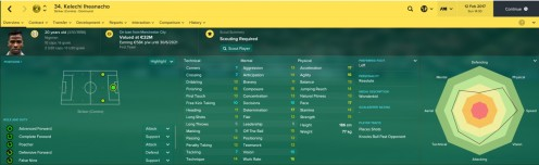 FM17 Profile Screenshot of Iheanacho
