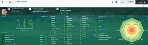 FM17 Profile Screenshot of Morata