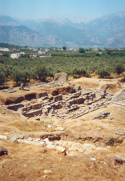 English: Ruins of Ancient Sparta, Greece. Date	29 April 2004 (original upload date) (Original text: 08. Juni 1999) Source	Eigene Aufnahme vom 08. Juni 1999.