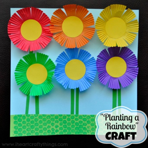 Make A Colorful Garden Of Flowers With Kids