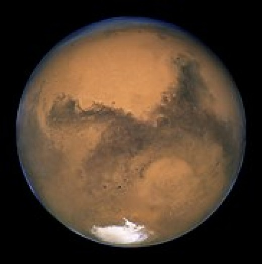 Picture Taken of Mars by a Orbiting Satellite