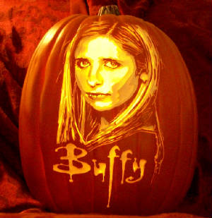 Carved Pumpkins Perfect For TV Fan