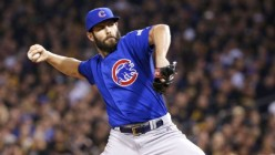 Cubs beat Cleveland 5-1 to tie up the Series 1-1. Arrieta gives Chicago six strong innings allows two hits.