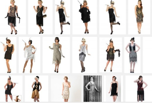Examples of 20s style clothing