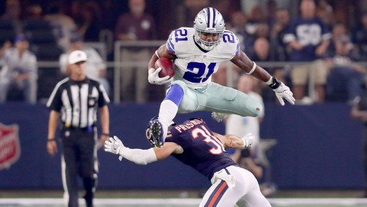 The NFL's leading rusher, Dallas Cowboys RB Ezekiel Elliott