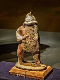 Clay Figurine of an Oplomachus Gladiator from the House of Marcus Lucretius Fronto in Pompeii Roman