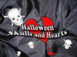 Halloween Skulls and Hearts