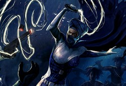Lumiya wielding her lightwhip