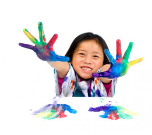 Summer is great for painting. Send the kids outside and let them experiment with new techniques without worrying about the mess!