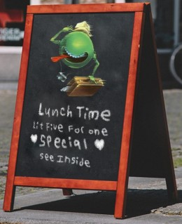 5 for 1 Lunchtime Lit Special!  Inquire below: